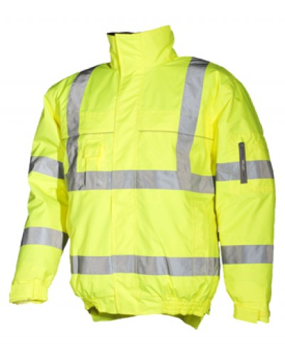 Waterproof Hi Vis Bomber Jacket