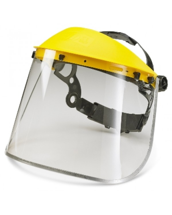 "Visor Clear Metal Edge 8"" 7,26 Eye & Face Protection BBBMEFV8C bcm safety"