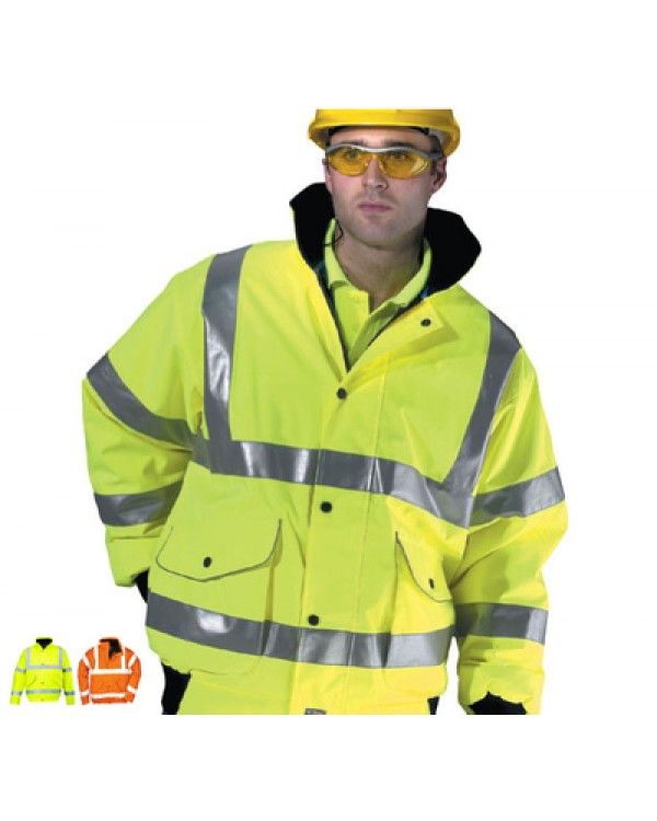 Hi Vis Bomber Jacket 0,00 Jackets BHVNBJC bcm safety