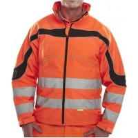 Hi Vis Soft Shell Eton Jacket Orange