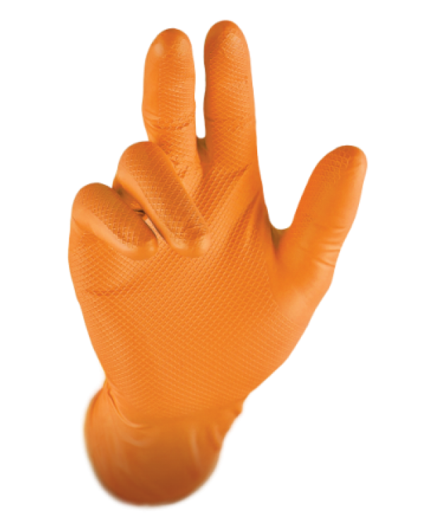 Gripster Skins - Orange 7,87 Gloves B5300C bcm safety - Box of 50 Gloves