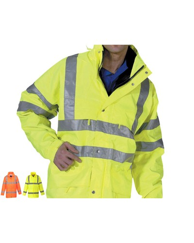 Redback Hi-Vis Nylon Waterproof  Anorak Yellow
