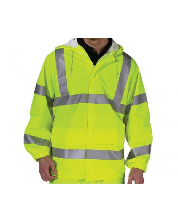 Waterproof Hi Vis Unlined Jacket 48,40 Jackets BHVDFUJYC bcm safety