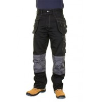 Click Kington Multi Purpose Pocket Trousers Black