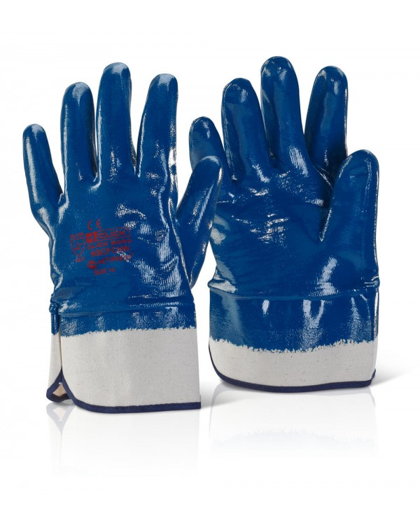 Nitrile Dipped Open Wrist Gloves 4,24 Gloves BNSCFCHW10C bcm safety
