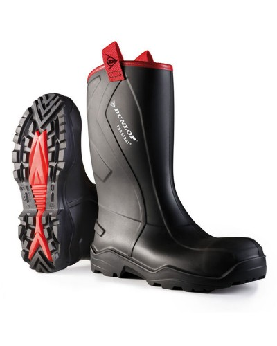 Dunlop Purofort + Rugged Full Safety Wellingtons Black
