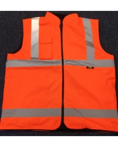 Redback Hi-Vis Bodywarmer Reversible Orange