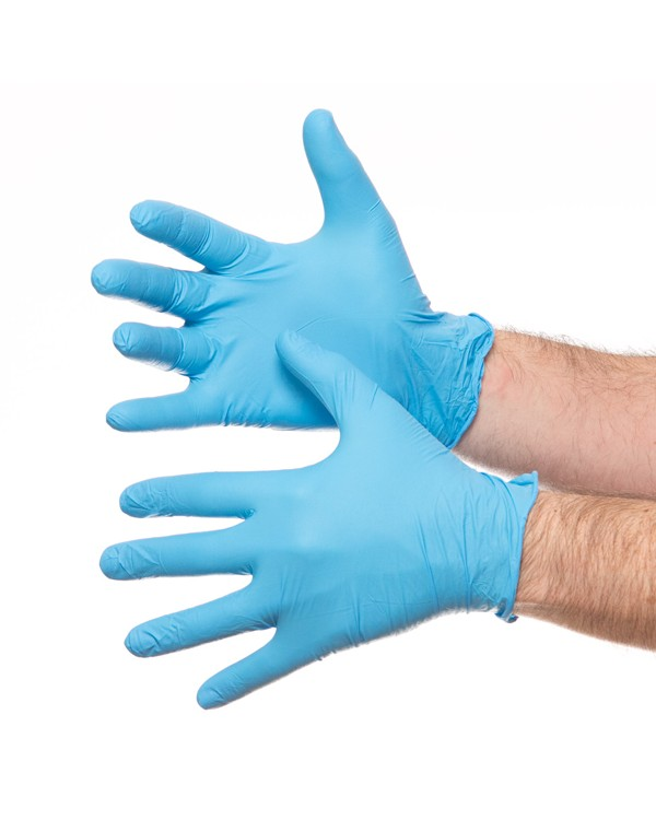 Nitrile Blue Powder Free 7,87 Food Industry B5200C bcm safety - Box of 100 Gloves