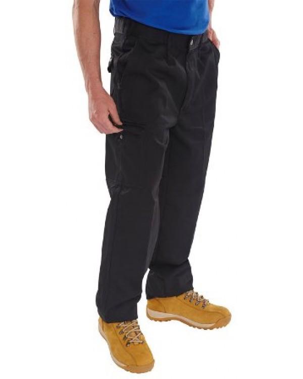 9oz Trousers Black 44,17 Trousers BPCT9BLC bcm safety