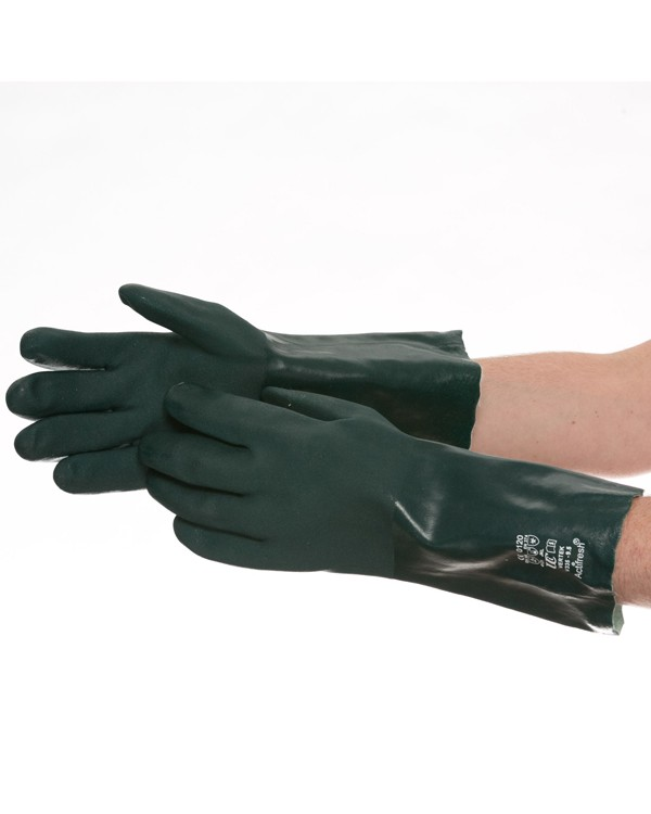 PVC D/D Glove 35cm Green 4,24 Gloves B8903C bcm safety