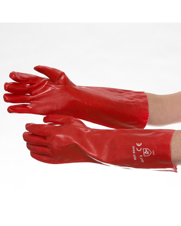 PVC Gauntlet 45cm 3,39 Gloves B8945C bcm safety -
