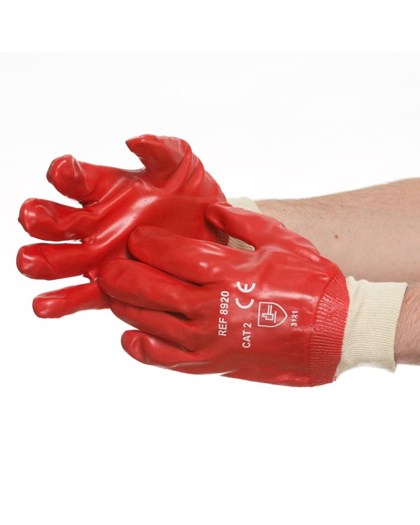 PVC Knit Wrist Glove 2,42 Gloves B8920C bcm safety