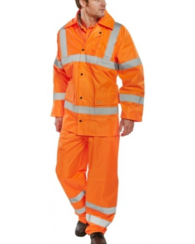 Waterproof Lightweight Hi Vis Suit Orange