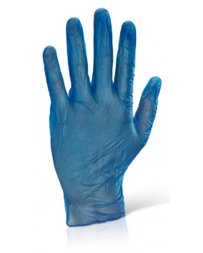 Vinyl Blue Powdered Disp Gloves