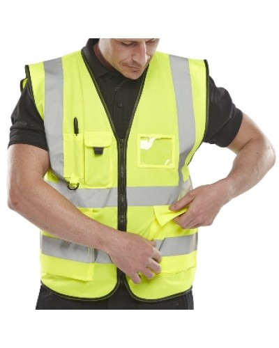 Hi Vis Executive Vest Yellow