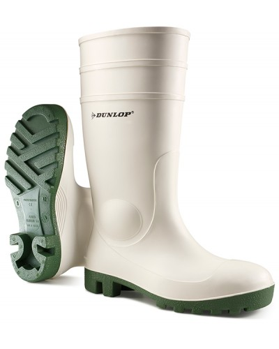 Wellingtons White Dunlop Safety