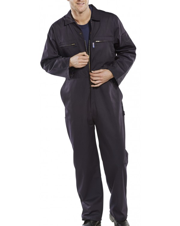 Boilersuit Super Stud & Zip Navy 26,02 Overalls BPCBSHWNC bcm safety