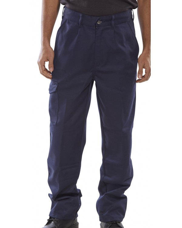 9oz Trousers Navy 44,17 Trousers BPCT9NC bcm safety