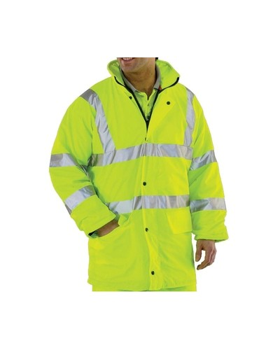 Waterproof Hi Vis Lined Jacket