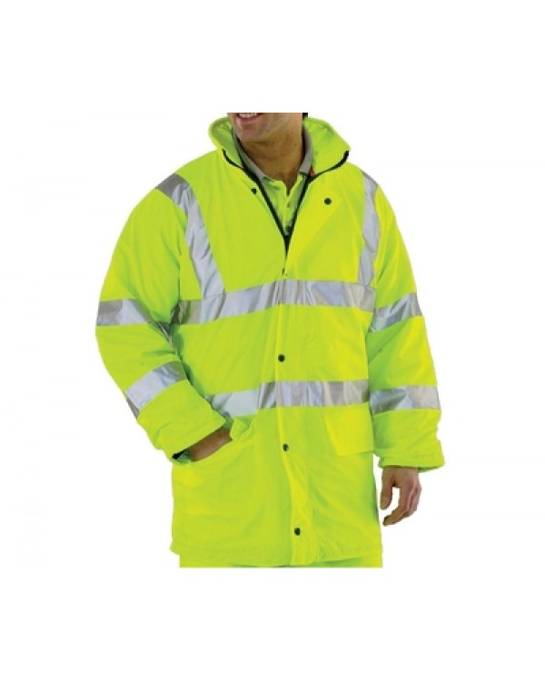 Waterproof Hi Vis Lined Jacket 50,82 Jackets BHVDFJYC bcm safety